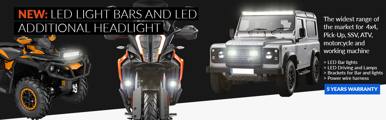 NEW: LED light bars and LED additional headlights
