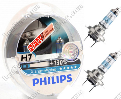 Philips X-treme Vision +130% Xenon effect H7 bulbs