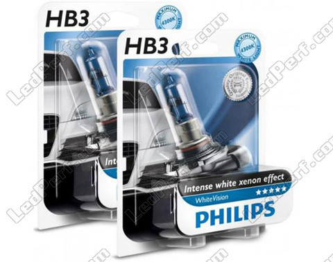 Pack of 2 Philips WhiteVision HB3 9005 bulbs