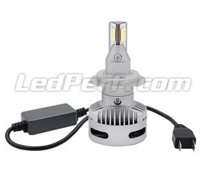 Connection and anti-error box of H7 LED bulbs for lenticular headlights.