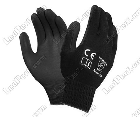 Pair of gloves to wear for safety when fitting Xenon and halogen LED bulbs