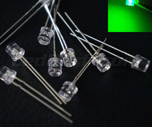 5 mm WIDE ANGLE Green LED + 12 V Resistor
