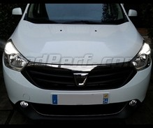 Daytime running light LED pack (xenon white) for Dacia Lodgy