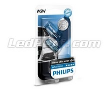 Pack of 2 sidelight bulbs - Philips WhiteVision - White - W5W base