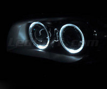 Angel eyes pack with LEDs (pure white) for BMW 1 Series phase 1 - MTEC V3