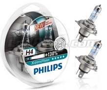 Pack of 2 Philips X-treme Vision +130% H4 bulbs (New!)