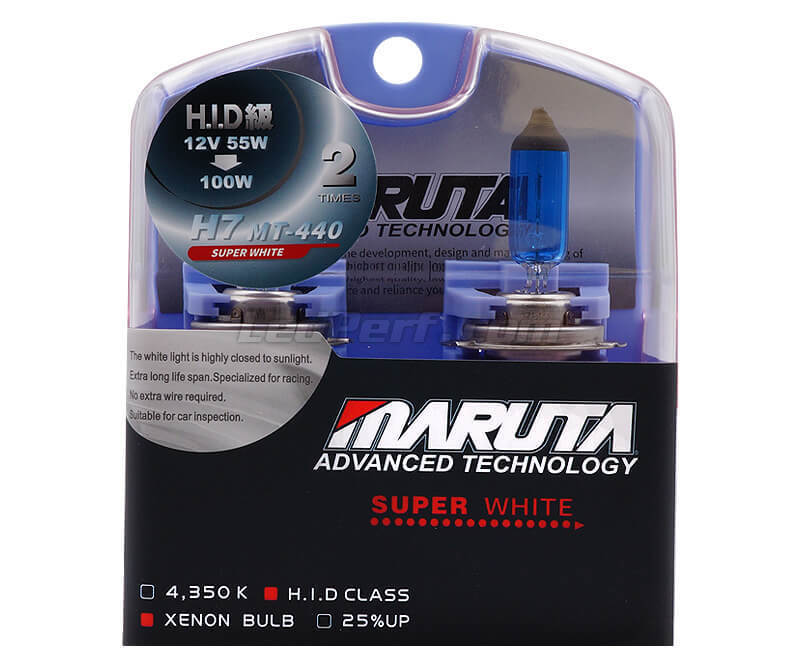 Pack of 2 H7 bulbs - MTEC Super White - pure White