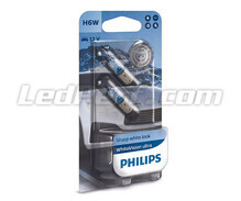 Pack of 2 Halogen Sidelight bulbs - Philips BlueVision ULTRA - White - H6W base