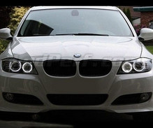Angel eyes pack with LEDs for BMW 3 Series (E90 - E91) Phase 2 (LCI) - With original xenon - MTEC V3.0