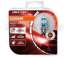 Pack of 2 Osram Night Breaker Laser +150% HB4 bulbs  - 9006NL-HCB