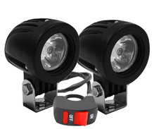 Additional LED headlights for motorcycle Ducati Monster 797 - Long range