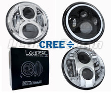 LED headlight for Kawasaki VN 1500 Mean Streak - Round motorcycle optics approved